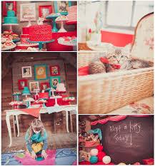 Vintage Birthday Decorations Vintage Kitty Cat Birthday Party Ideas Popsugar Moms