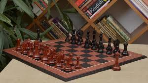Wooden Chess Set Of Pegasus Series Artisan Staunton Chess Set In Ebony Bud Rose