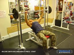 Decline Smith Machine Bench Press Machine Exercise Videos Learn How To Do Machine Exercises