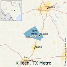 killeen map best places to live in killeen temple metro area