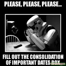 Black Box Meme - please please please fill out the consolidation of important dates