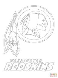 washington redskins logo coloring page free printable coloring pages