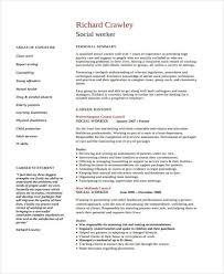 Social Work Resume Templates Free Social Work Resume Templates Free 39 Images Exles Of Resumes
