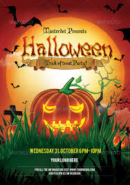 Halloween Day Party Poster By Masterdot Graphicriver