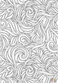 swirl pattern coloring page free printable coloring pages