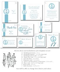 printable wedding invitation kits wedding invitation kit 6 printable nautical templates