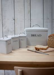 bread bins u0026 canisters kitchen storage glass steel and enamel
