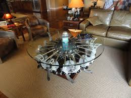hmmm radial engine coffee table and don u0027t miss the table lamp