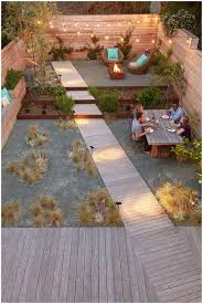 backyards bright modern urban backyard with fire pit area 4