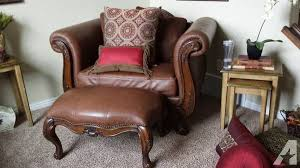 extra large chair with ottoman leather wood couch oversized chair ottoman for sale in south