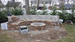Firepit Bench by Building A Custom Bench And Fire Pit Ceraso Masonry