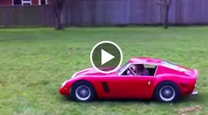 golden ferrari man builds half scale ferrari for his daughter u2013 speed society