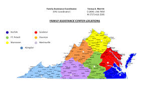 Road Map Of Virginia Va National Guard Family Assistance Centers