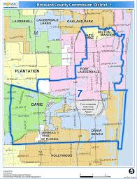 Map Of Hollywood Florida by District 7