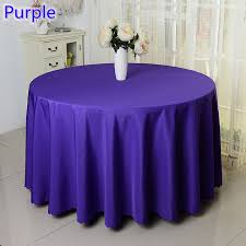 banquet table linens wholesale purple colour wedding table cover table cloth polyester table linen