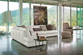 Contemporary Leather Sectional Sofa by Alfred Contemporary Leather Sectional Sofa By Gamma Arredamenti