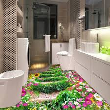 aliexpress com buy custom 3d floor wallpaper flower trail modern