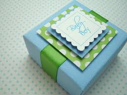 baby boy favors personalized baby boy favor boxes blue and green set of ten by
