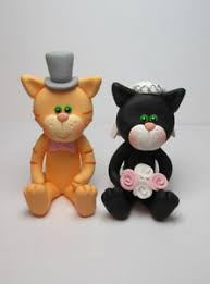 cat wedding cake topper personalised and groom cat wedding cake toppers ebay
