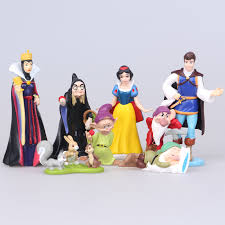 Disney Toys 8pcs Lot 5 10cm Pvc Princess Snow White Dwarf Action