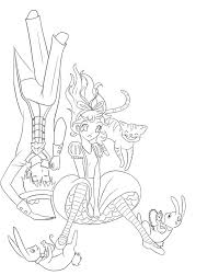 alice in wonderland lineart by explodingbiscuits on deviantart