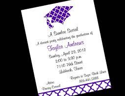 graduation invite wording