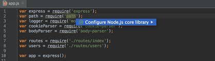 node js quick tutorial node js coding assistance in webstorm webstorm blog