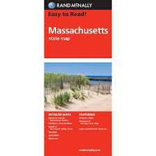 Massachusetts Maps by Rand Mcnally Folded Map Massachusetts