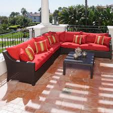 Overstock Com Patio Furniture Sets - rst outdoor cantina 6 piece corner sectional sofa and coffee table