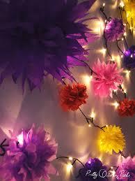 full tutorial for making your own paper flower fairy lights on