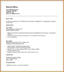 Objectives For Resume Examples by Hair Stylist Resume Example 266 Best Resume Examples Images On