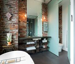 exposed brick wall lighting bathrooms lighting in the bathroom accentuates the beauty of
