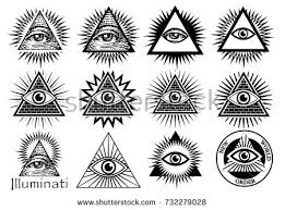 illuminati symbols illuminati symbols masonic sign all seeing stock vector 732279028
