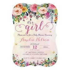 baby shower invites for girl baby girl shower invitations zazzle