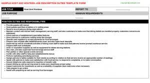 Hostess Job Description For Resume 100 Host Job Description Resume Captivating Military Job
