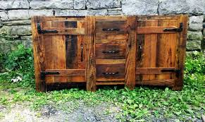 Rustic Bath Vanities Buy A Hand Made Rustic Bathroom Vanity From Reclaimed Wormy