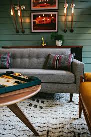 photos hgtv gathering room with retro gray sofa loversiq