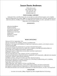 Electrical Resume Sample by Surprising Resume For Entry Level 16 Professional Entry Level