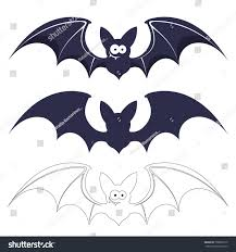 bats vector set isolated on white stock vector 708865270