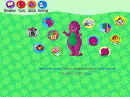 barney friends pbs website purple fun loving happy