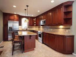 cherry cabinets in kitchen amber cherry mitred raised kitchen cabinets with a brown glaze