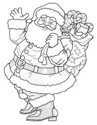 santa christmas coloring pages printable for preschoolers