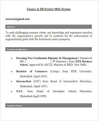 Resume Objective For Mba 28 Free Fresher Resume Templates Free U0026 Premium Templates