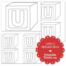 printable letter u alphabet block template u2014 printable treats com