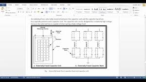substation layout capacitor bank youtube