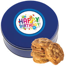 Bulk Cookie Tins Halloween Chocolate Chip Cookie Tin 1 Lb Barbaras Cookie Pies