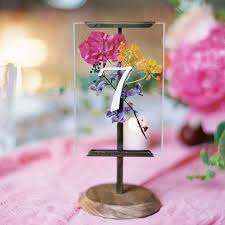 wedding flowers for tables 6 pressed flower wedding decoration ideas we brides