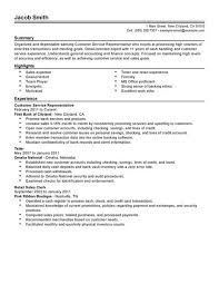 Financial Resume Example by Best Financial Customer Service Representative Resume Example