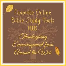 favorite bible study tools and thanksgiving posts do not