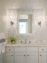 Waterproof Wallpaper For Bathrooms Wallpaper Powder Room Houzz